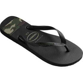 havaianas Top Stripes Logo Flips Men Black/Green